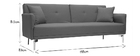 Canapé convertible design 3 places gris ELIN