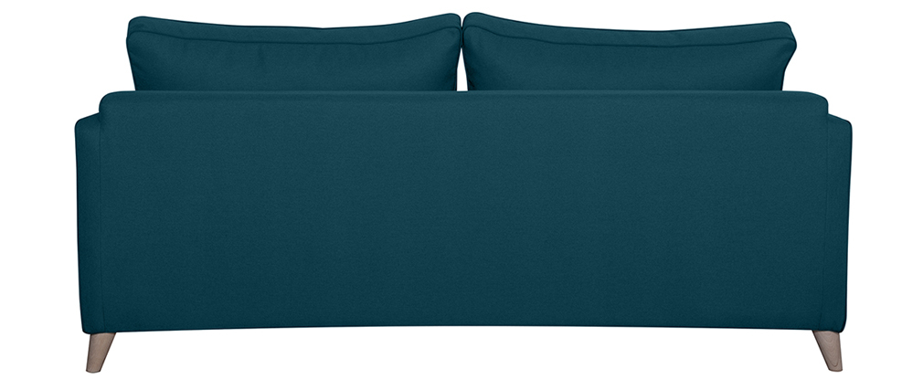 Canapé convertible scandinave 3 places bleu canard PAPEL
