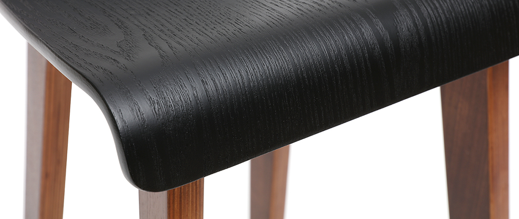 Chaise de bar noire 75 cm BALTIK