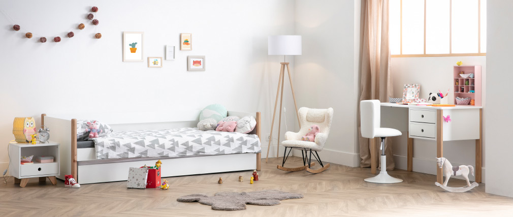 Chaise de bureau enfant blanche NEW ROCK