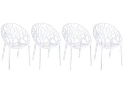 Chaise design blanc lot de 4 ARBOL