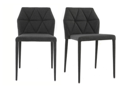 Chaises design grise lot de 2 KARLA