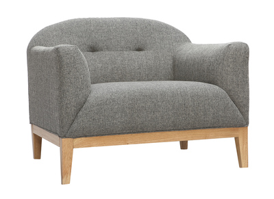 Fauteuil design gris MARY