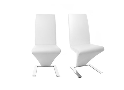 Lot de 2 chaises design  blanc NEW ANGIE