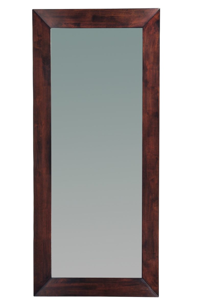 miroir mural en bois 80 x 180 cm weng daffodil miliboo. Black Bedroom Furniture Sets. Home Design Ideas