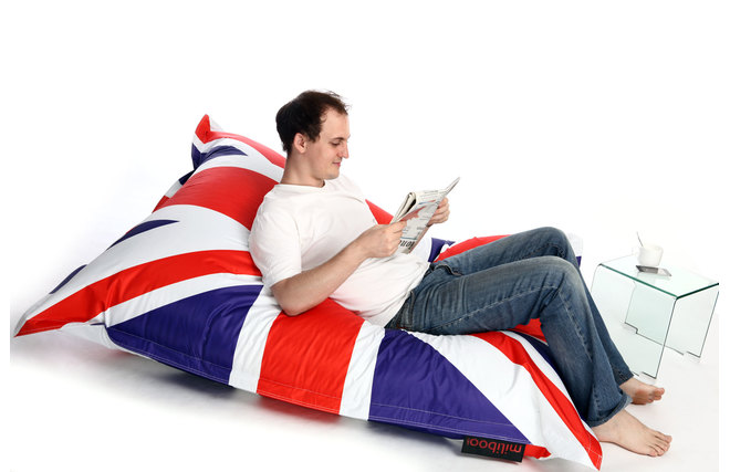 pouf g ant design union jack big bag miliboo. Black Bedroom Furniture Sets. Home Design Ideas