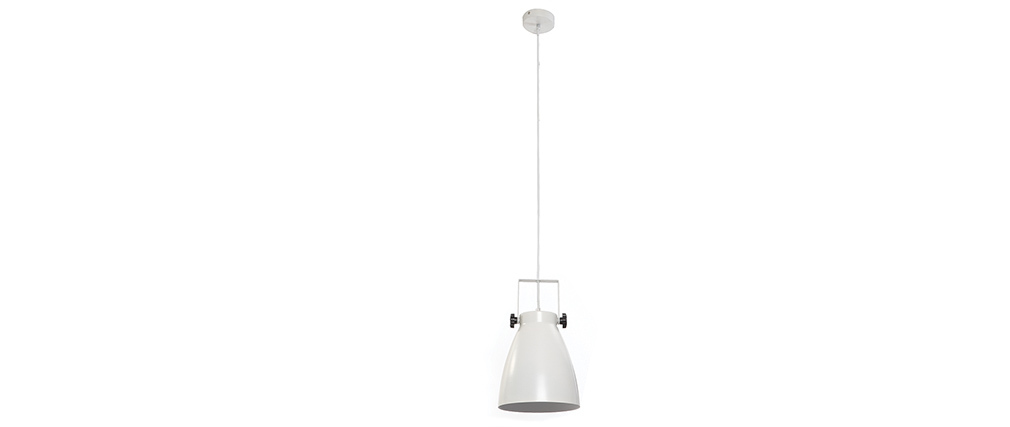 Suspension industrielle blanc LOWIE