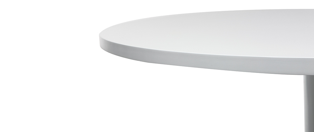 Table à manger design blanc D90 cm CALISTA