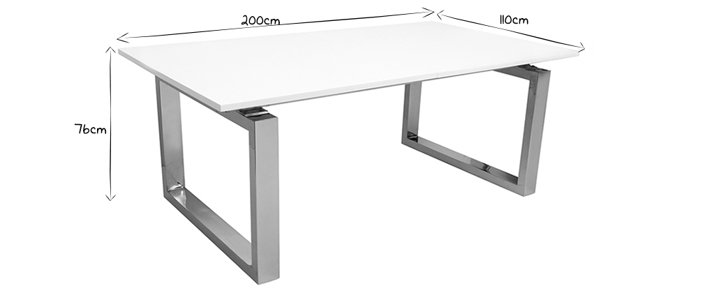 Table à manger design extensible 200-380cm PRESIDENT