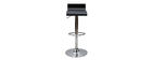 Tabouret de bar design noir SURF