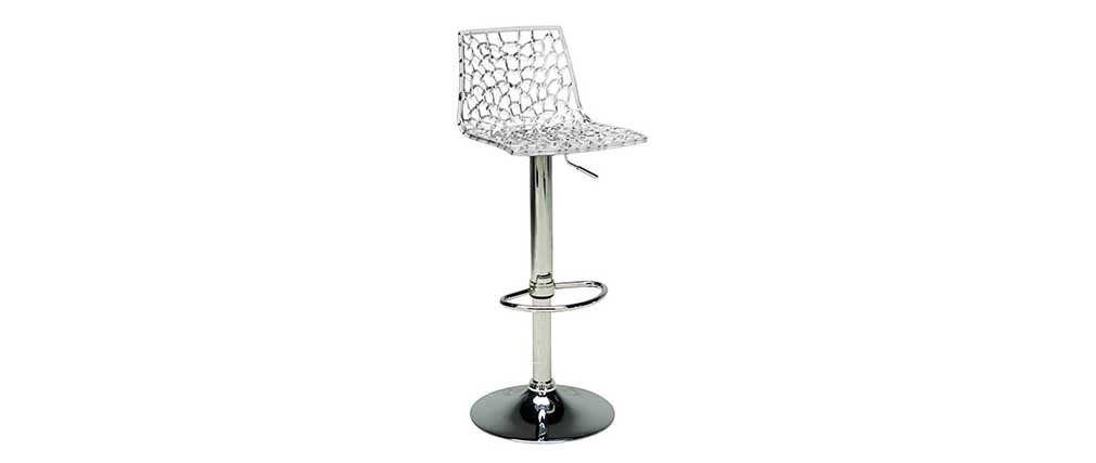 Tabouret de bar design transparent ATRAX