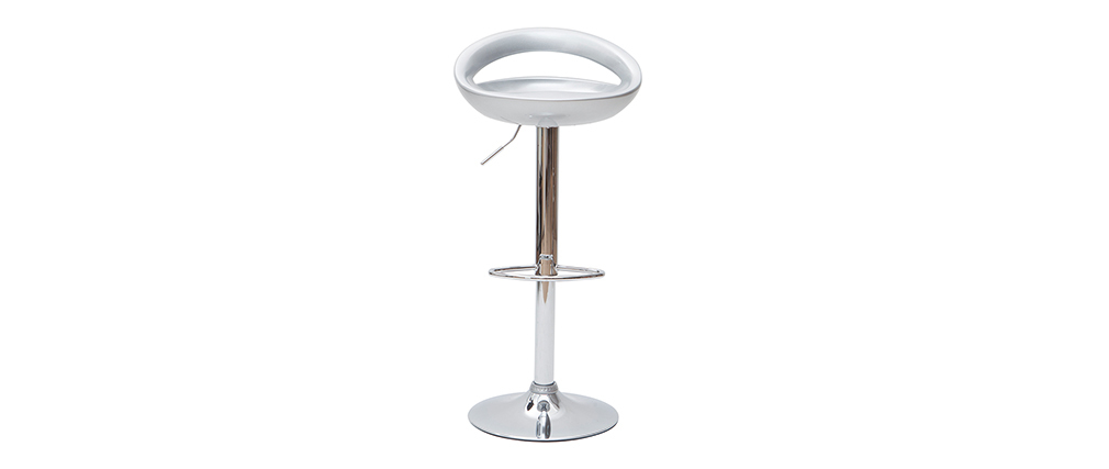 Tabourets de bar design argent (lot de 2) COMET