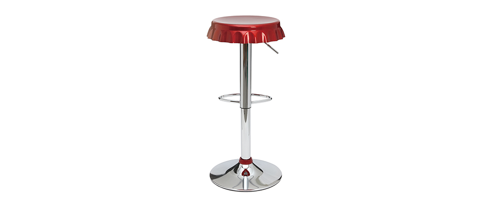 Tabourets de bar rouge bordeaux NEW CAPSULE (lot de 2)